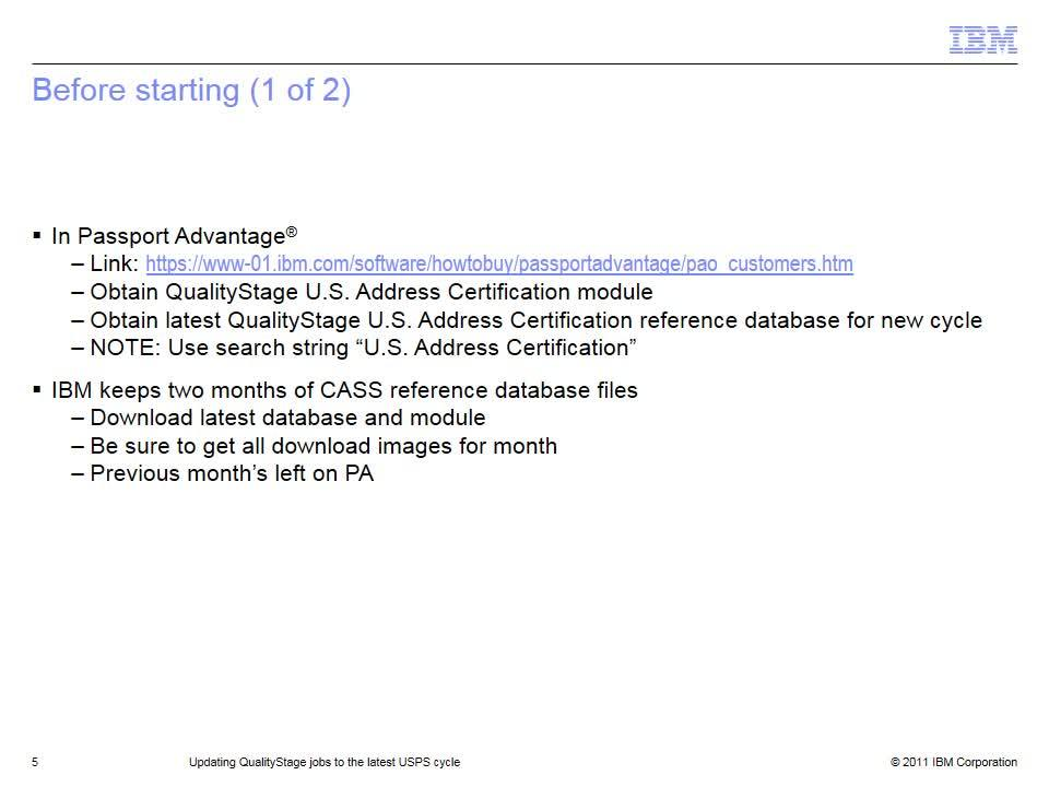 Updating Qualitystage Jobs To The Latest Usps Cycle Ibm Mediacenter
