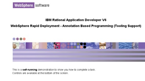 Thumbnail for entry Create Enterprise JavaBean using annotation programming in tooling