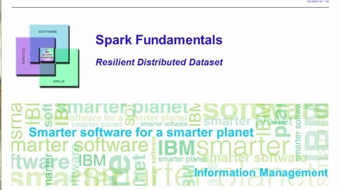 Thumbnail for entry Resilient Distributed Dataset - Part 1