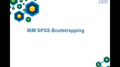 Thumbnail for entry IBM SPSS Bootstrapping Demo