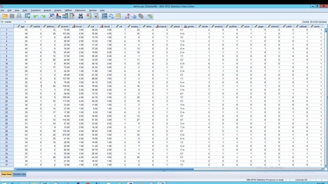Thumbnail for entry SPSS: Statistics: Compute Variable