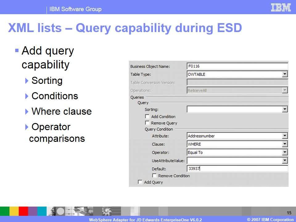 WebSphere Adapter for JD Edwards EnterpriseOne - Details - IBM
