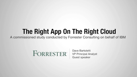 Thumbnail for entry Forrester Report: Untangling Complexity 1