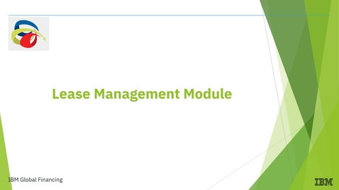 Thumbnail for entry Welcome to The Lease Management Module