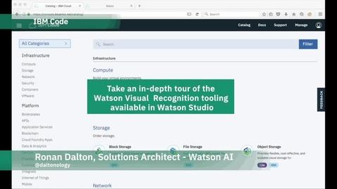 Thumbnail for entry 深入了解 Watson Studio 中提供的 Watson Visual Recognition 工具