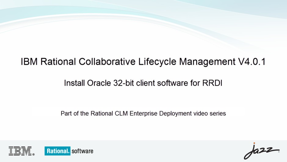 Install Oracle 32-bit client software for RRDI - IBM MediaCenter