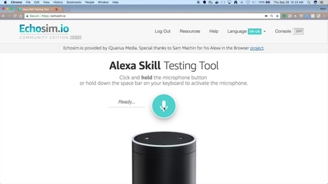 Thumbnail for entry 使用无服务器架构和对话创建 Alexa 技能