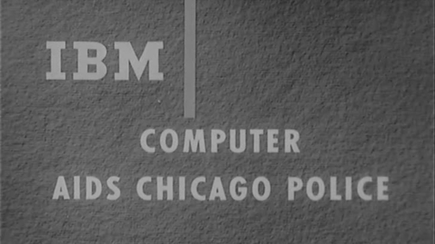Computer Aids Chicago Police (1963)