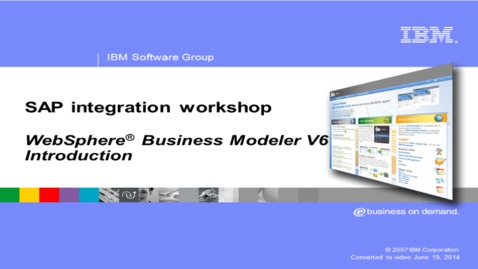 Thumbnail for entry WebSphere Business Modeler