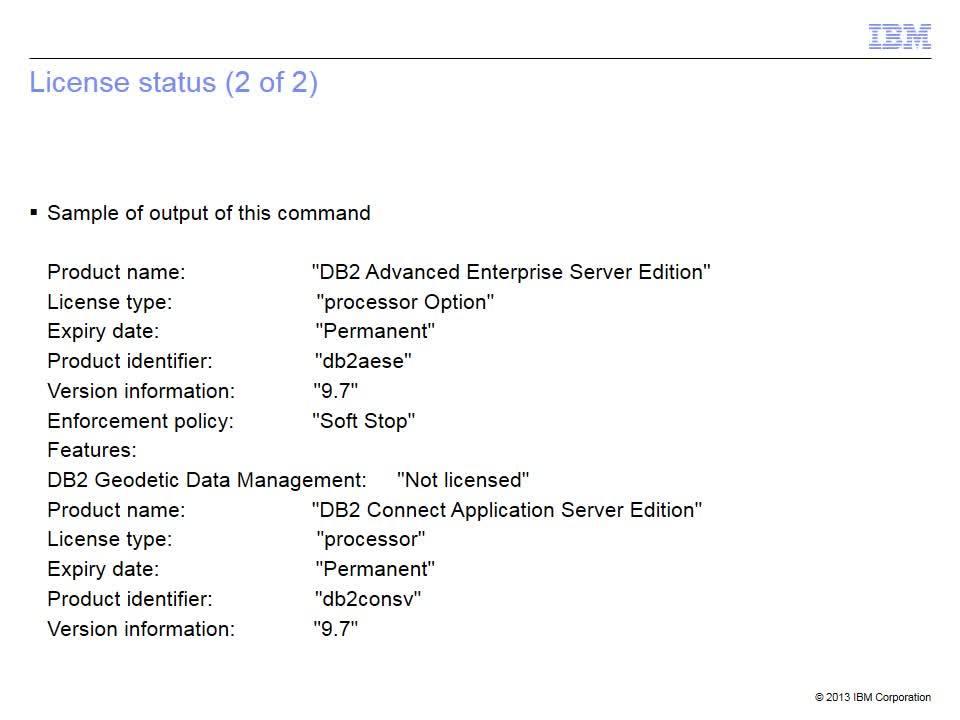 The basics of licensing - IBM MediaCenter