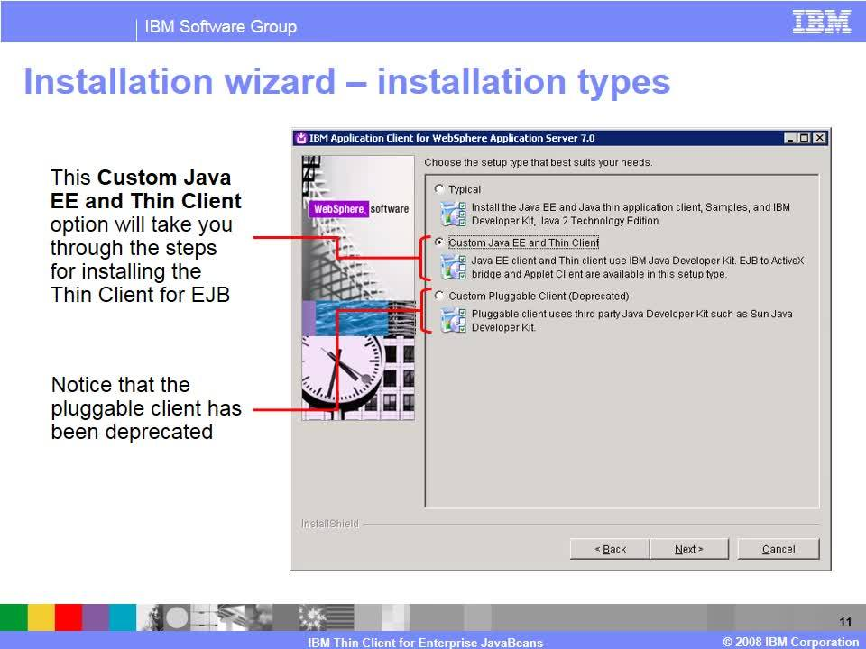 IBM Thin Client for Enterprise JavaBeans - IBM MediaCenter