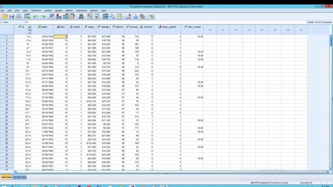 Thumbnail for entry SPSS: Statistics: Auto recode, and User missing vs System Missing