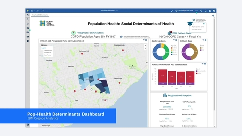 Thumbnail for entry IBM Cognos Analytics helps North York General Hospital understand community needs