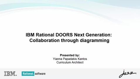 Thumbnail for entry IBM Rational DOORS Next Generation: Collaboration through diagramming