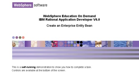 Thumbnail for entry Creating an Enterprise JavaBeans - Entity Bean