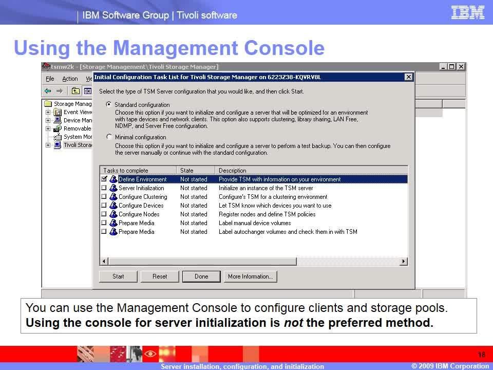Server installation and configuration - IBM MediaCenter