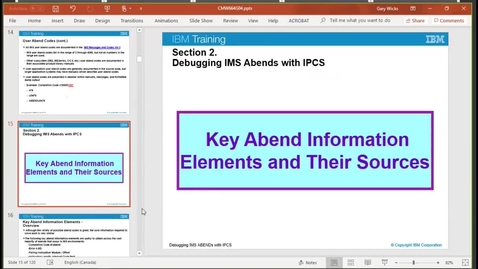Thumbnail for entry Unit 2, video 2: Key abend information elements and their sources