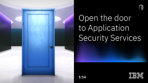 Thumbnail for entry IBM Application Security Services