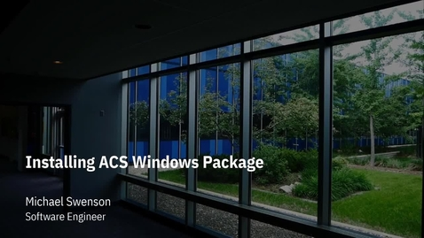 Thumbnail for entry How to Install the ACS Windows Application Package