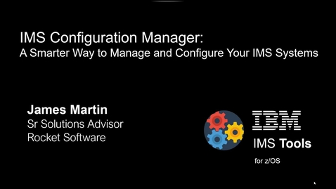 Thumbnail for entry Discover IMS parameters with IMS Configuration Manager for z/OS