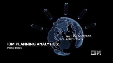 Thumbnail for entry Pebble Beach crée une expérience d'achat optimale grâce à IBM Planning Analytics