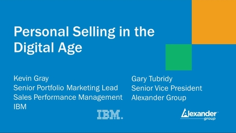 Thumbnail for entry A critical role for sales in the digital age