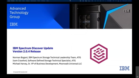 Thumbnail for entry New data exploration capabilities with IBM Spectrum Discover Version 01212021