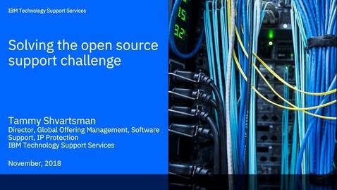 Thumbnail for entry Вебинар - Оптимальное решение вопроса поддержки ПО с открытым исходным кодом