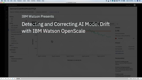 Thumbnail for entry Watson OpenScale Drift-Bias-Explainability Videos Subtitled 6 mins