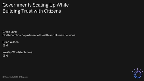 Thumbnail for entry Governments Scaling Up While Building Trust With Citizens