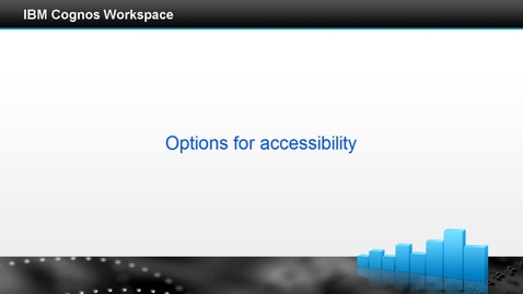 Thumbnail for entry Options for accessibility
