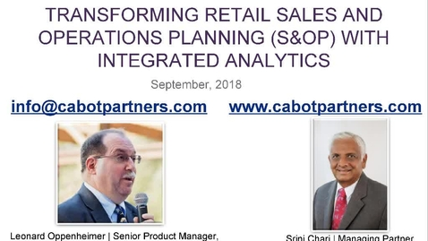 Thumbnail for entry Transforming retail sales and operations planning (S&OP) with integrated analytics