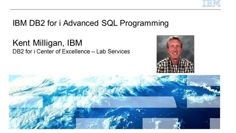 Thumbnail for entry IBM DB2 for i Advanced SQL Programming - IBM Training