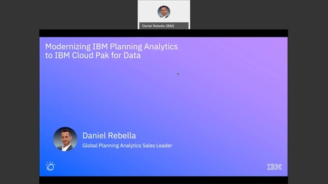 Thumbnail for entry Planning Analytics for Cloud Pak for Data Modernization Upgrade