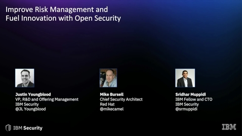 Thumbnail for entry Improve Risk Management and Fuel Innovation with Open Security