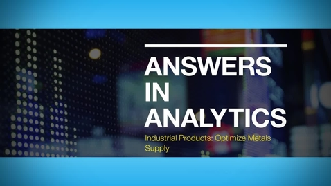 Thumbnail for entry Answers in Analytics: Mueller Incorporated improves customer experience with IBM Analytics