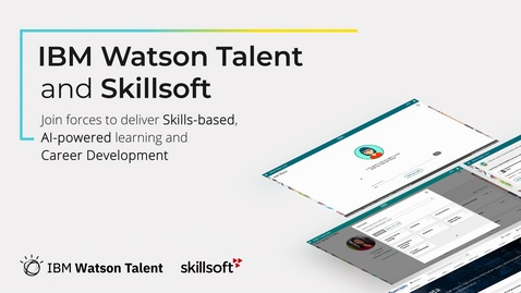 Thumbnail for entry IBM Watson Talent and Skillsoft
