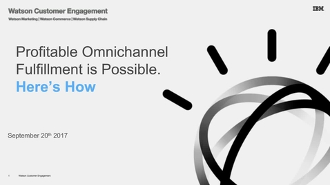 Thumbnail for entry Is omni-channel fulfillment killing your company?