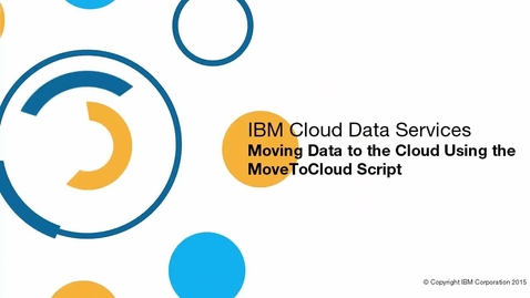 Thumbnail for entry Move data to the cloud using the movetocloud script
