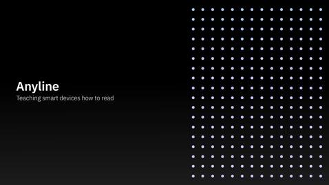Thumbnail for entry Anyline+IBM:指示智能设备如何读取