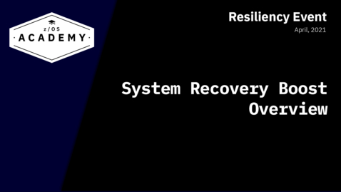 Thumbnail for entry System Recovery Boost Overview