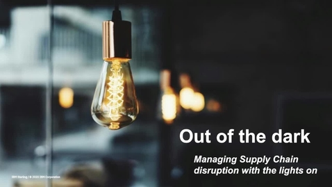 Thumbnail for entry Webinar: Out of the dark - Managing disruption with the lights on