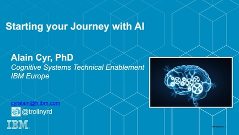 Thumbnail for entry Starting Your Journey With AI