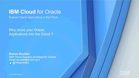 Thumbnail for entry IBM Cloud pour Oracle