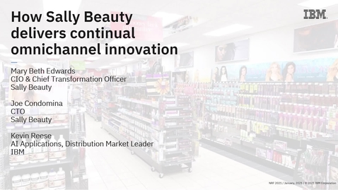 Thumbnail for entry How Sally Beauty delivers continuous omnichannel innovation
