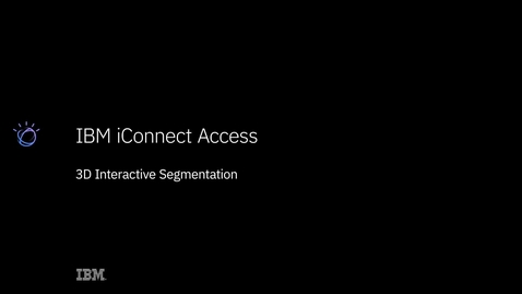 Thumbnail for entry IBM iConnect Access 3D Interactive Segmentation Demo