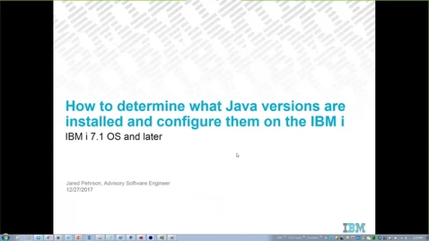 Thumbnail for entry How to determine what Java versions are installed and configured on the IBM i
