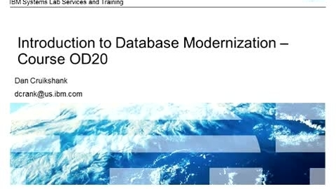 Thumbnail for entry IBM i Database Modernization