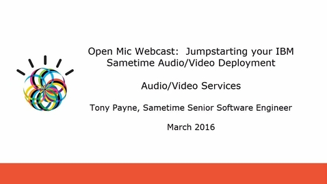 Thumbnail for entry IBM Sametime Audio/Video Services