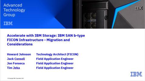 Thumbnail for entry IBM SAN b-type FICON Infrastructure - Migration Considerations 07132021